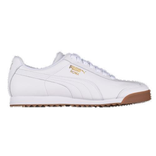 PUMA Roma Basic - Men's Training Shoes - White / Team Gold - 36640801