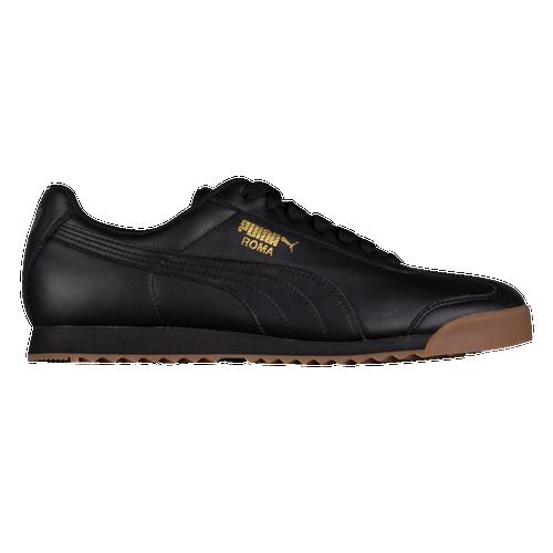 PUMA Roma Basic - Men's Training Shoes - Black / Team Gold