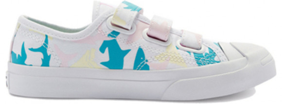 Converse Jack Purcell Low Easy-On PS 'Shark Bite - White' White/Cherry Blossom Sneakers/Shoes 368145C - 368145C