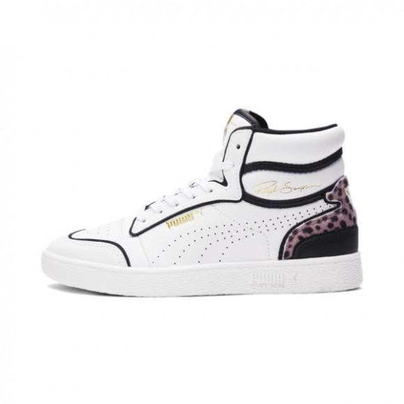 PUMA Ralph Sampson Mid Wildcats Women's Sneakers in Pale White/Pale Black/T Gold - 368653-01