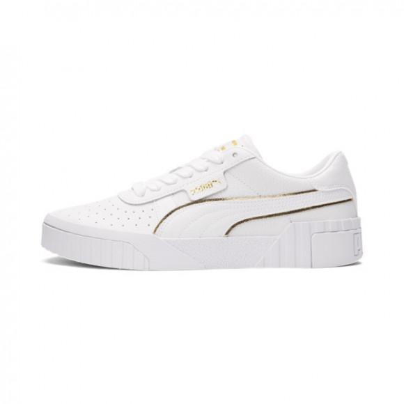 PUMA Cali Metallic Women's Sneakers in White/Team Gold - 368655-01