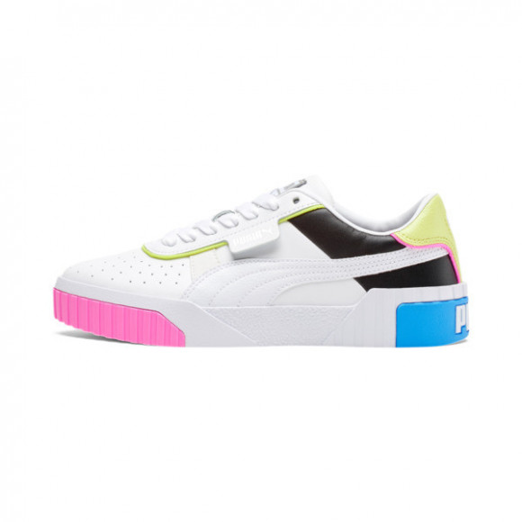 PUMA Cali Colorblocking Women's Sneakers in Pale White/Pale Black/Sharpale Green - 368656-01