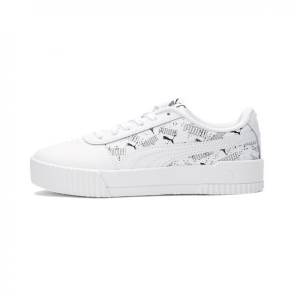 PUMA Carina Hand Drawn Sneakers JR in White/Black - 368802-01