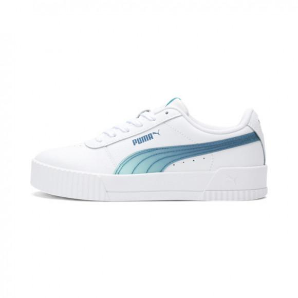 PUMA Carina Jelly Girls' Sneakers JR in PWhite/Aruba Blue/Digi - 368822-01