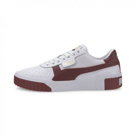 PUMA Cali Women's Sneakers in White/Burnt Russet - 369155-14