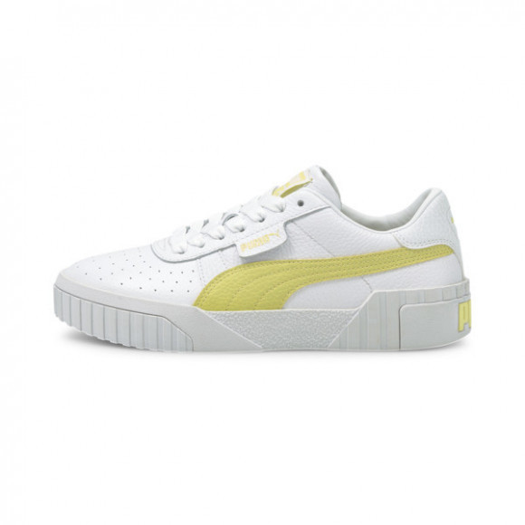 PUMA Cali Women's Sneakers in White/Yellow Pear - 369155-32