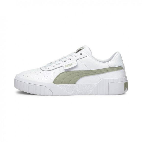 PUMA Cali Women's Sneakers in White/Desert Sage - 369155-34