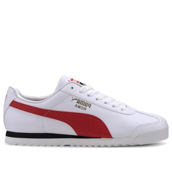 PUMA Roma Basic+ Sneakers in White/High Risk Red - 369571-11
