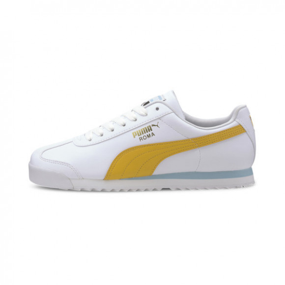 PUMA Roma Basic+ Sneakers in White/Golden Rod - 369571-13