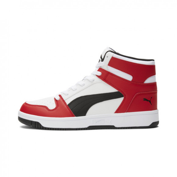 PUMA Rebound LayUp Men's Sneakers in White/Black - 369573-14