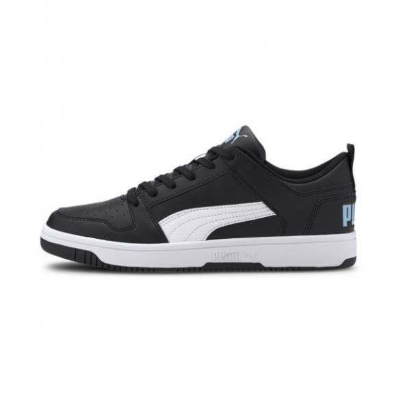 PUMA Rebound LayUp Lo Men's Sneakers in Black/White/Palace Blue - 369866-07