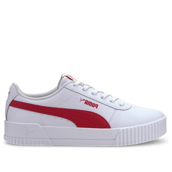 PUMA Carina Leather Women's Sneakers in White/Bright Rose, Size 6.5 - 370325-13
