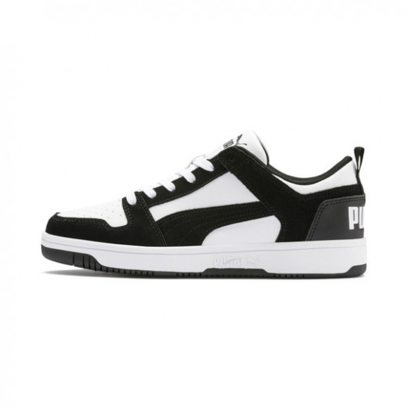 PUMA Rebound LayUp Lo Suede Men's Sneakers in Black/White - 370539-01