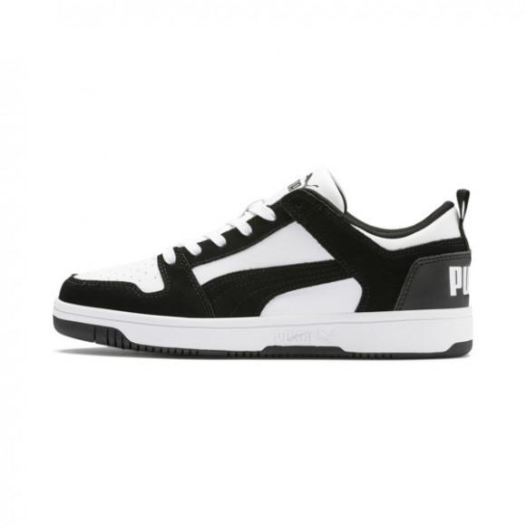 PUMA Rebound LayUp Lo Suede Men's Sneakers in Black/White - 370539-01