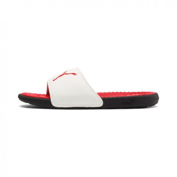 PUMA Cool Cat Sport Slides JR in High Risk Red/PWhite/P Black - 371034-09