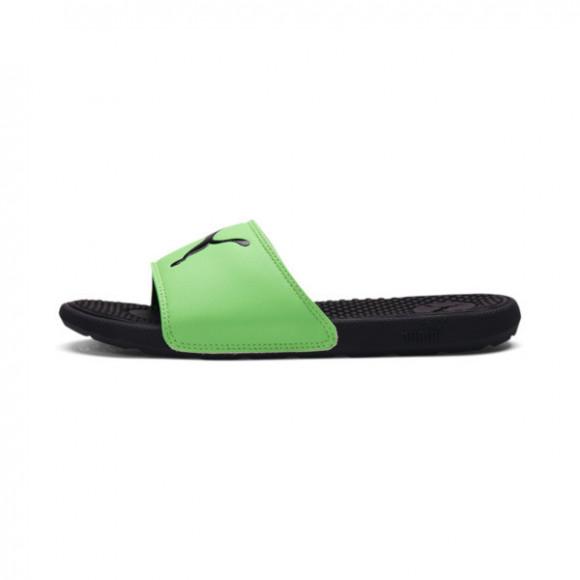 PUMA Cool Cat Sport Slides JR in Black/Summer Green - 371034-11