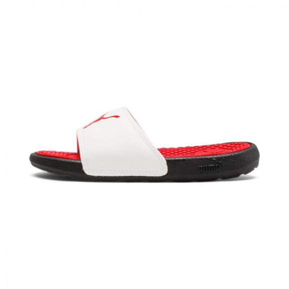 PUMA Cool Cat Sport Little Kid's Slides in High Risk Red/PWhite/P Black - 371035-09