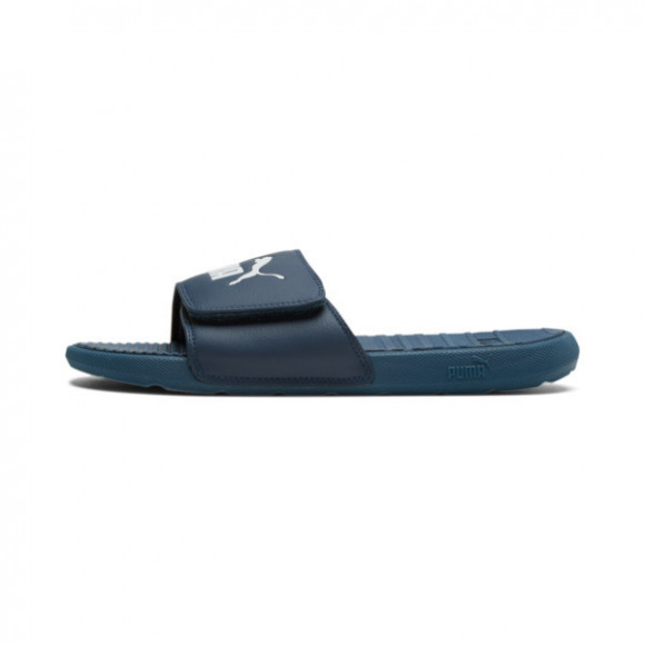 PUMA Cool Cat V Men's Slides in Dark Denim/White - 371044-09