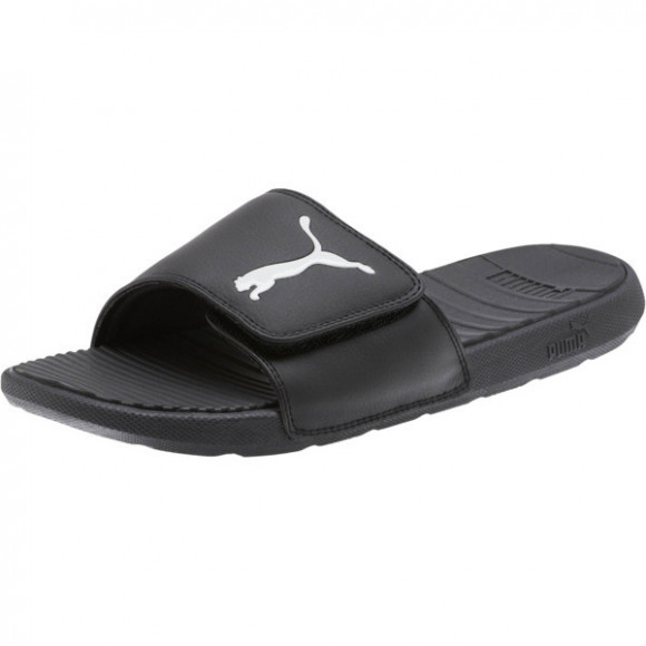 PUMA Cool Cat Sport V Slides in Black/White - 371051-01