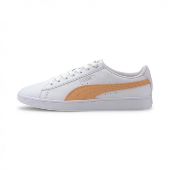 PUMA Vikky v2 Zebra Women's Sneakers in White/Cantaloupe/Silver - 371110-02