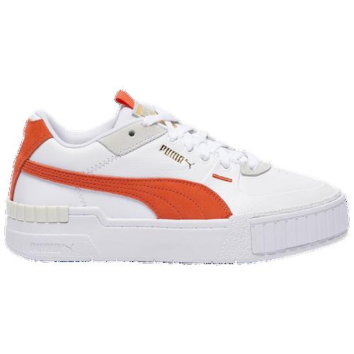 PUMA Cali Sport - Women's Tennis Shoes - White / Coral - 37120213