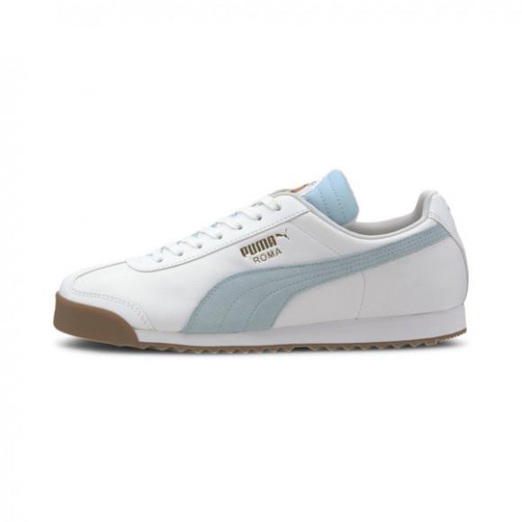 Roma Classic PUMA FC Men's Sneakers in White/Aquamarine - 371615-02