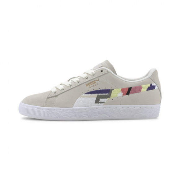 PUMA Suede WH Women's Sneakers in Vaporous Grey/White - 371682-01