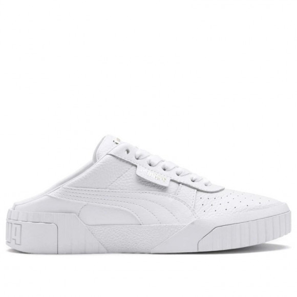 Womens Puma Cali Mule 'White' White/Metallic Gold WMNS Sneakers/Shoes 371836-01 - 371836-01
