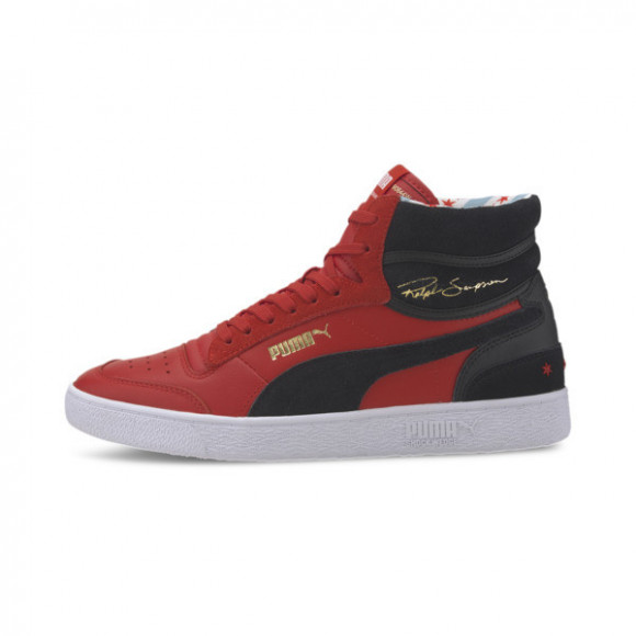 PUMA Ralph Sampson Mid Chicago Men's Sneakers in High Risk Red/Black/White, Size 10 - 372107-01