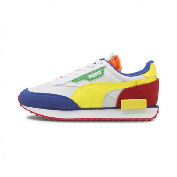 PUMA Future Rider Play On Sneakers JR in White/Bla Yellow/Blaz Blue - 372349-10