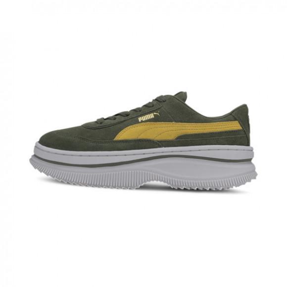 PUMA DEVA Suede Women's Sneakers in Thyme/Super Lemon - 372423-05