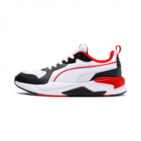 PUMA X-RAY Men's Sneakers in White/Black/Red - 372602-14
