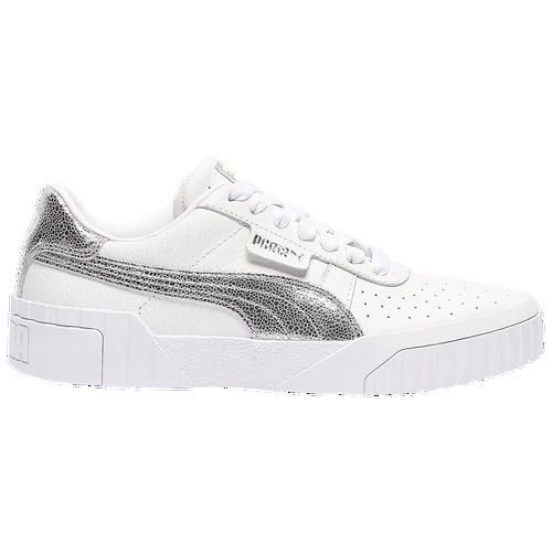 PUMA Cali - Women's Training Shoes - Silver / Metallic Foil - 37276001