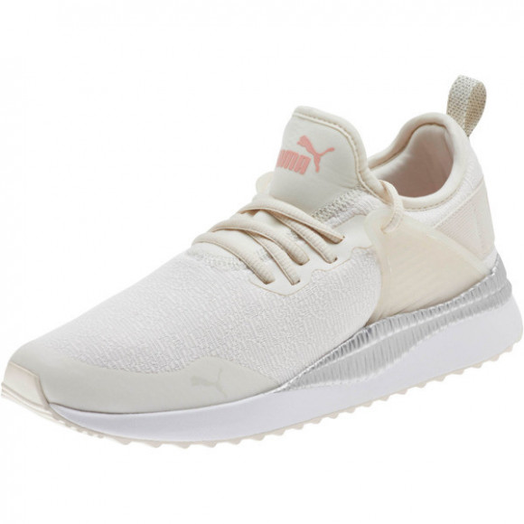 PUMA Pacer Next Cage Glitter Women's Sneakers in Pastel Parchment/Bridal Rose - 372811-02