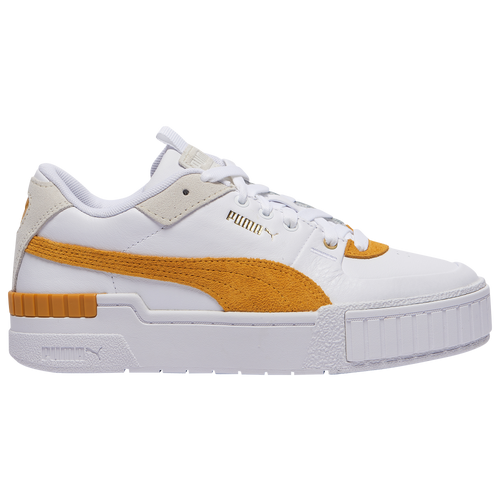 PUMA Cali Sport - Women's Tennis Shoes - White / Golden Rod - 37308002
