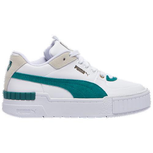 PUMA Cali Sport - Women's Tennis Shoes - White / Teal Green - 37308003,37308003-100