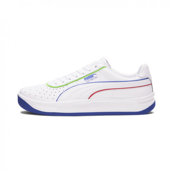 PUMA GV Special Tailored for Sport Sneakers in White/Dablue/Hrisk Red, Size 12 - 373420-01