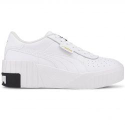 PUMA Cali Wedge Women's Sneakers in White/Black - 373438-03
