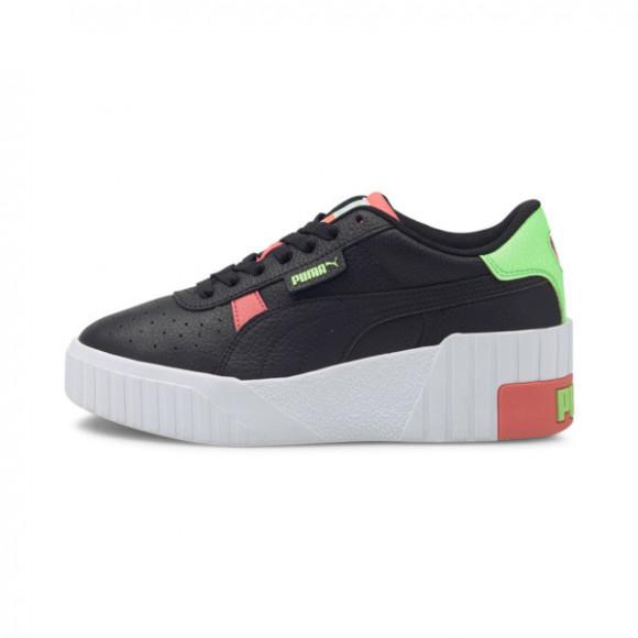 PUMA Cali Wedge Women's Sneakers in Black/Georgia Peach - 373438-07