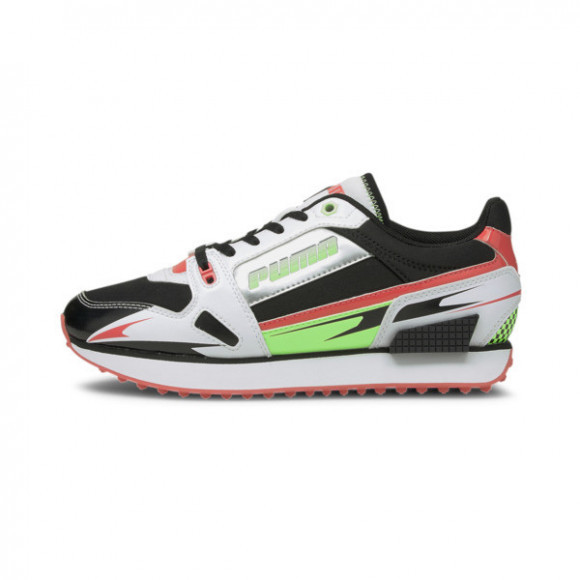 PUMA Mile Rider Sunny Getaway Women's Sneakers in Black/Geo Peach/Elk Green - 373443-09
