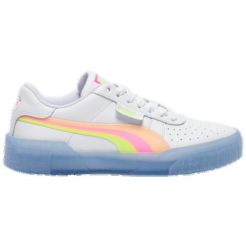 PUMA Cali - Women's Training Shoes - White / Fluorescent Pink / Pink - 37347801-100