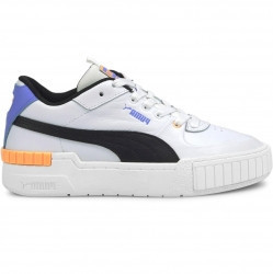 PUMA Cali Sport Women's Sneakers in White/Soft Fluo Orange - 373871-08