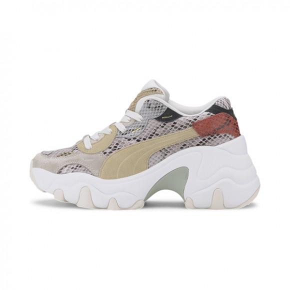 PUMA Pulsar Wedge Disco Wild Women's Sneakers in Marshmallow/Pale Khaki, Size 6.5 - 373938-01
