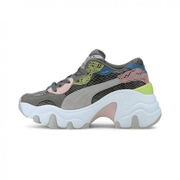 PUMA Pulsar Wedge Disco Wild Women's Sneakers in Ultra Grey/Violet, Size 10 - 373938-02