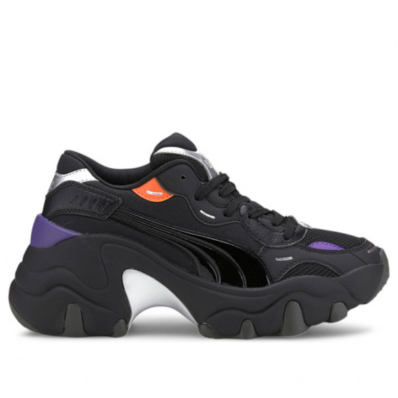 PUMA Pulsar Wedge Tech Glam Women's Sneakers in Black/Silver, Size 11 - 373939-02