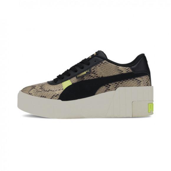 PUMA Cali Wedge Snake Women's Sneakers in Pale Khaki/Black - 374108-01
