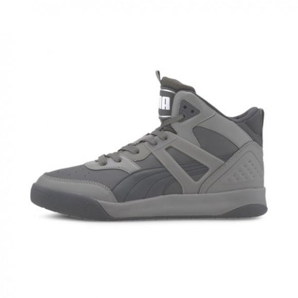 PUMA Backcourt Mid Men's Sneakers in Shadow/Ebony/Grey, Size 10 - 374139-04