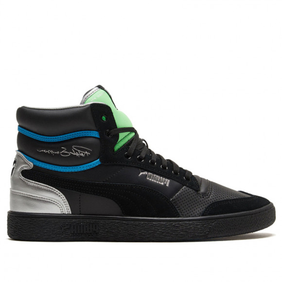 PUMA Ralph Sampson Mid Royal Men's Sneakers in Pale Black/Elektrogren/Dresdenblu - 374150-02