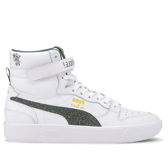 PUMA x MR DOODLE Sky LX Mid Men's Sneakers in White/Posy Green/Black - 374219-01