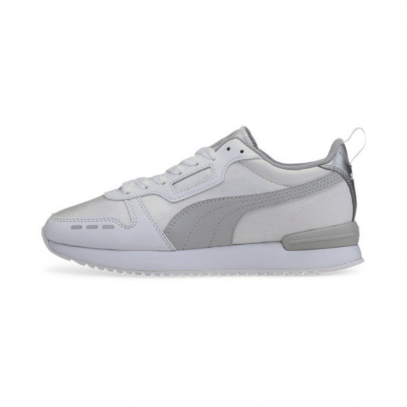 PUMA R78 Metallic Women's Sneakers in White/Grey/Silver - 374739-02